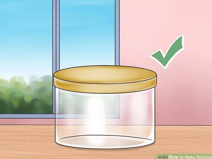 آموزش ساخت عطر-یک بطری نگهدارنده شیشهای تمیز، تهیه کنید