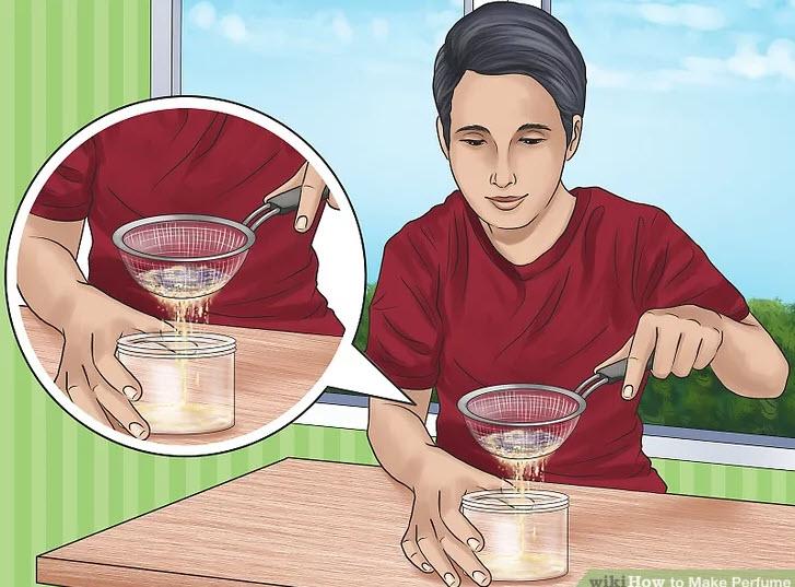 آموزش ساخت عطر-در بطری را بازکرده و مراحل قبلی را تکرار کنید