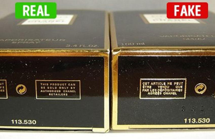 تشخیص عطر و ادکلن اصل- سلفون و مقوای بستهبندی